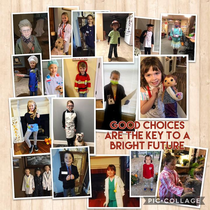 What a fun day dressing as our future careers! #GoodChoicesWeek #redribbonweek #SafeSchoolsWeek