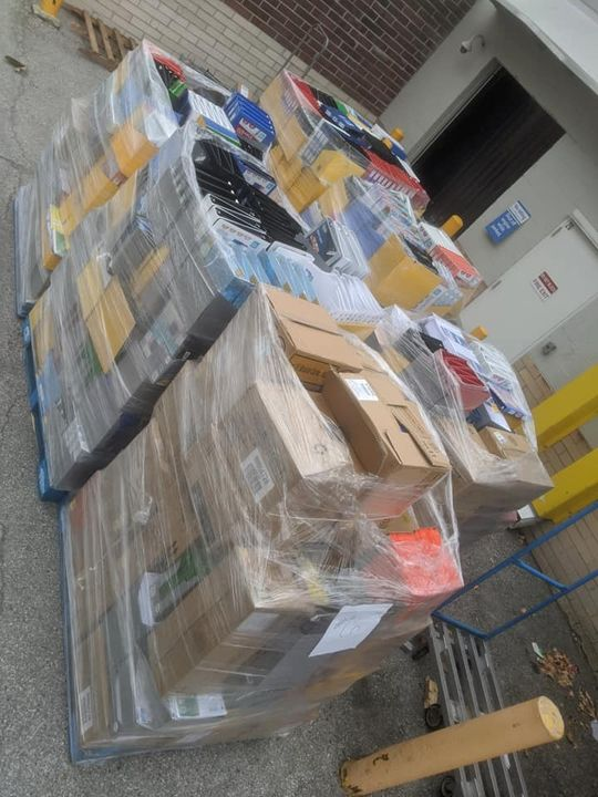 We are so blessed!!! Walmart, Ft. Wright donated 6 pallets of school supplies worth…