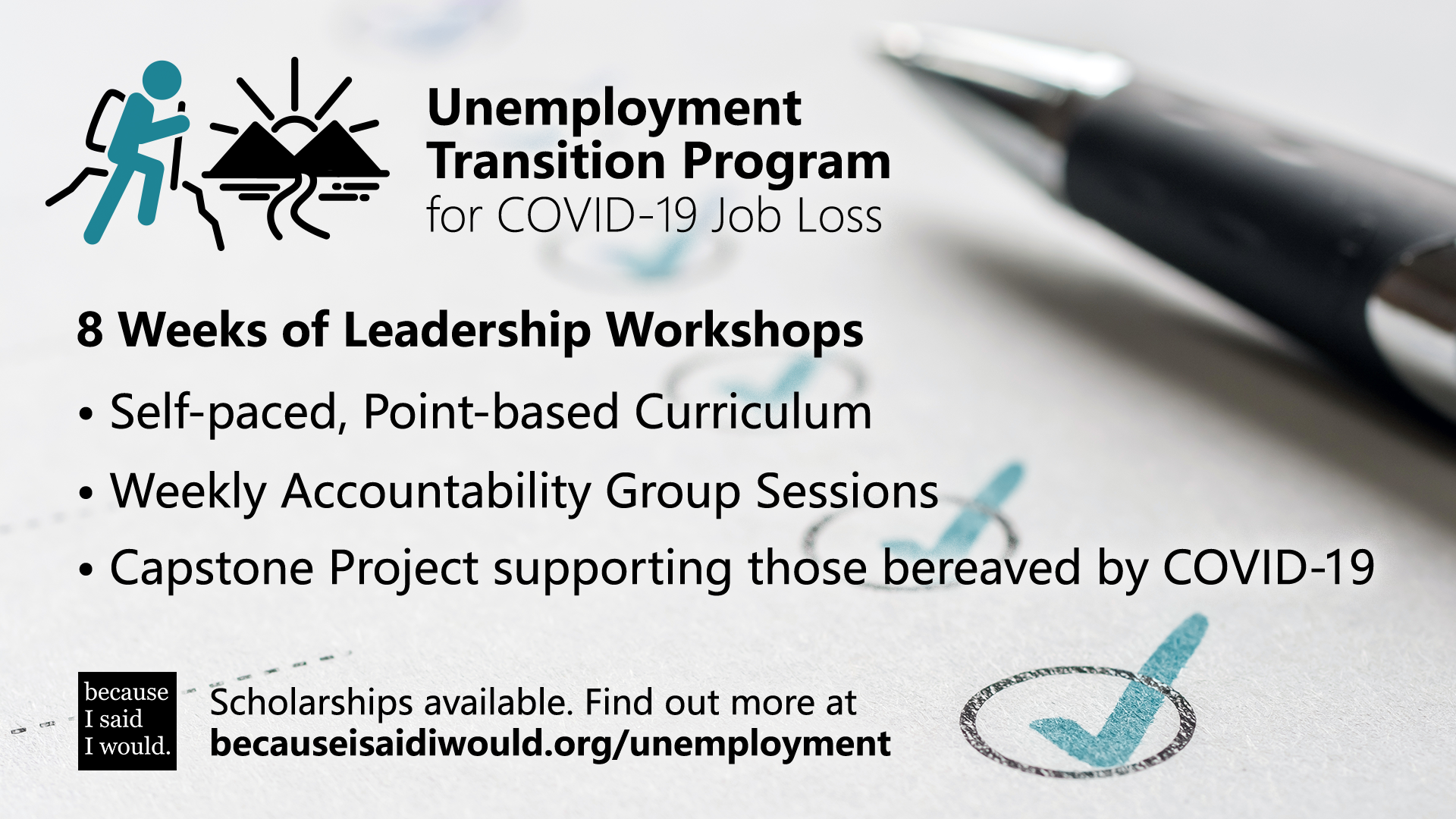 Lost a job due to Covid 19? Join us for 8 weeks of leadership…