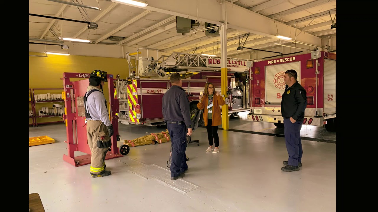 Chandler's and Olmstead schools FRYSC Director Raquel Nash and Kristy Cartas brought fire safety…