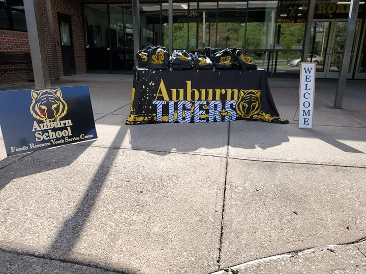 Auburn School FRYSC held a virtual student drive through. Student's received their welcome bag,…