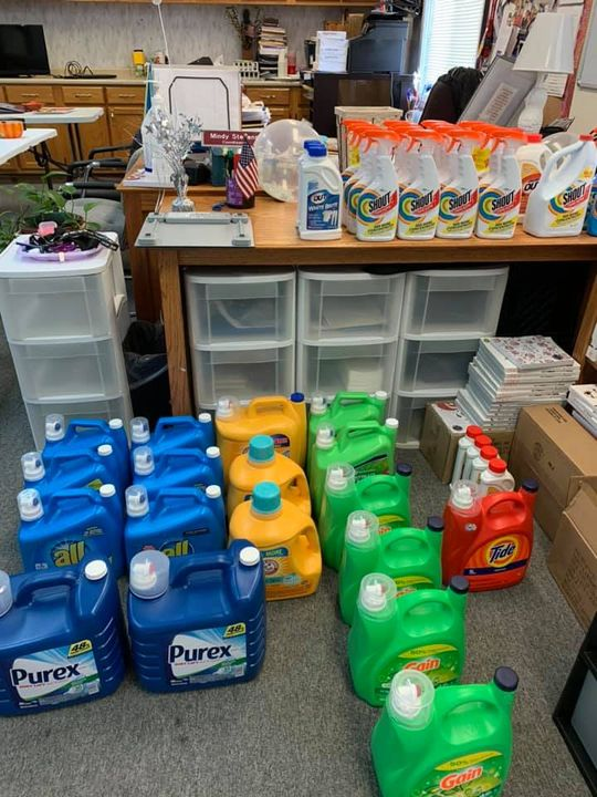 I have to brag on my amazing school and community!! I receive food donations…