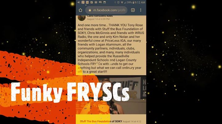 Special thanks to William Owen for a little Funky FRYSC video to kick-off our…
