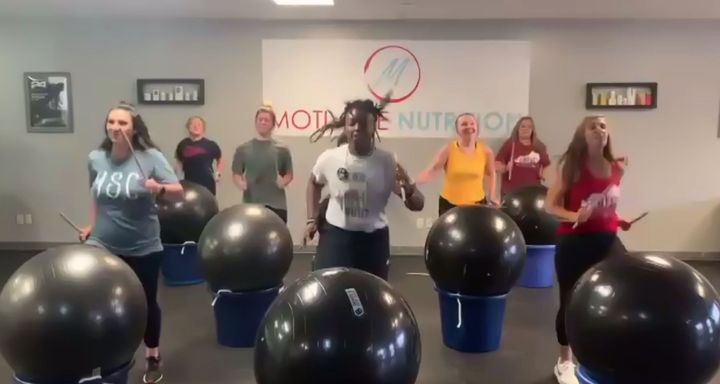 While the world stops for lunch, the FRYSC Fall Institute does Cardio Drumming. Contact…